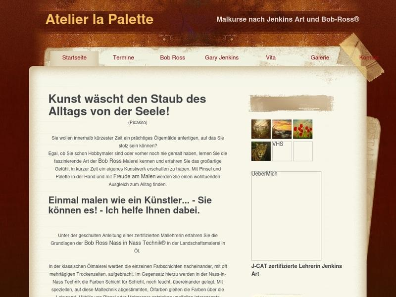 Screenshot von http://www.atelier-la-palette.de/index.html